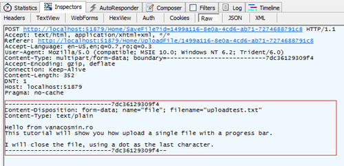 Upload request in fiddler